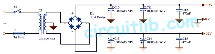 +-32V Power Supply