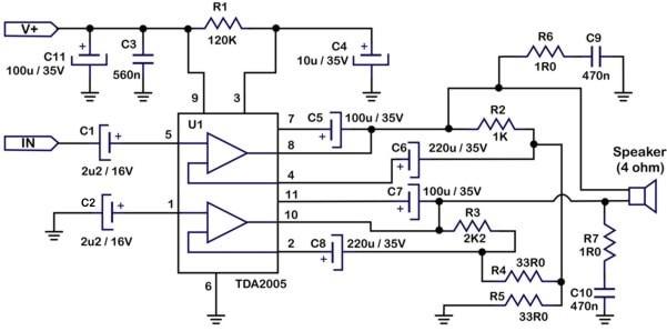 2x20w Stereo Amplifier