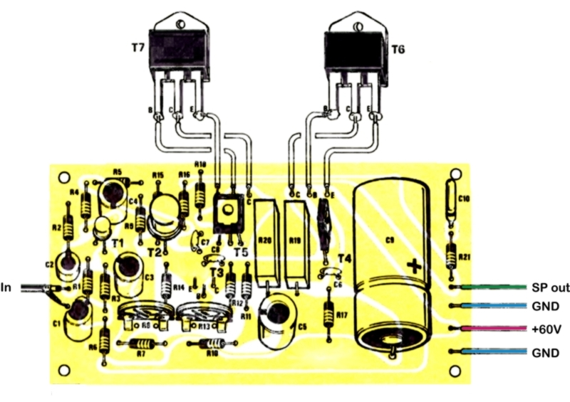 How to assemble the amplifier