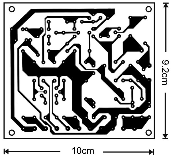 The printed circuit board of the 100W audio amplifier