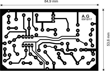 Simple compressor - limiter printed circuit board artwork