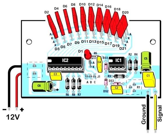 Retro VU meter - assembly instructions
