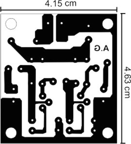 Simple audio preamplifier - 1st PCB