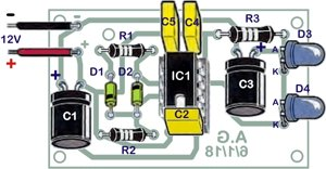 Assembly guide for the infrared transmitter