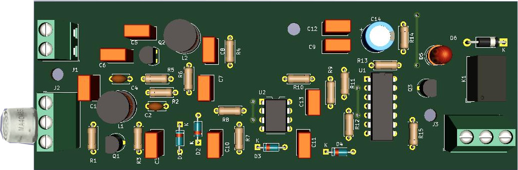 How to assemble the simple ultrasonic receiver