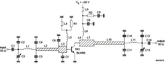 50W FM Amplifier Electronic Schematic