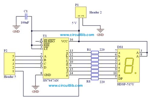 7 Segment Display Driver Schematic