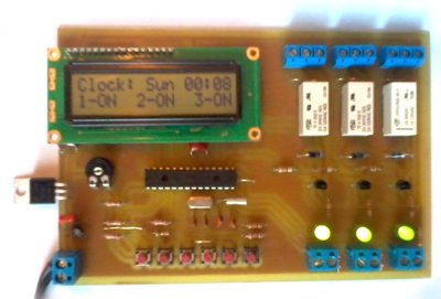 The electronic board of the weekly programmer