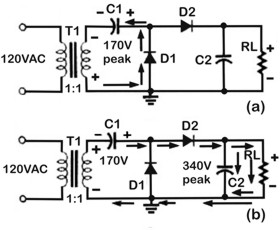Half-Wave Voltage Doubler Circuit