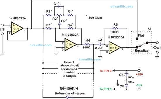 Audio Graphic Equalizer Circuit