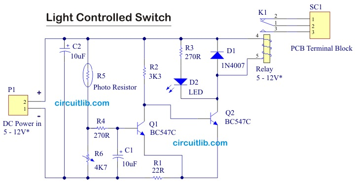 Simple Light Controlled Switch