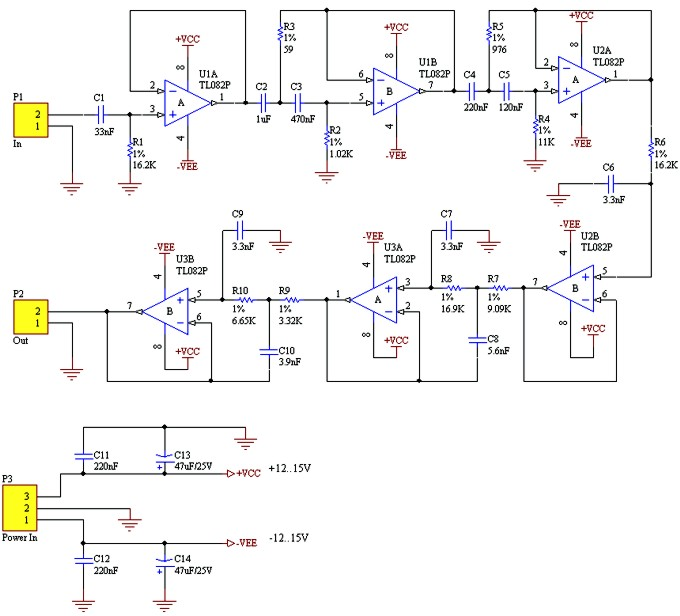 Voice Band - Pass Filter schematic