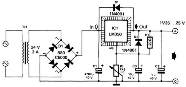 3A linear regulator circuit