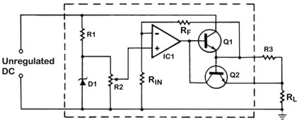 A typical linear IC regulator