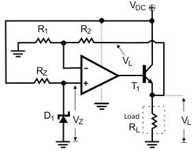 Op-amp voltage regulator concept