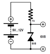 Voltage stabilization with a Zener diode