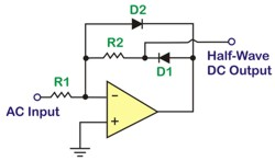 Half-wave precision rectifier circuit
