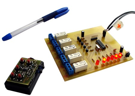 RC5 remote control boards (Transmitter and receiver)