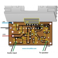 65W Audio Amplifier - Composite Drawing